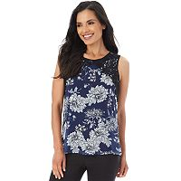 Women's Apt. 9® Floral Applique Tank