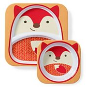 Skip Hop Zoo Melamine Divided Plate & Bowl Set