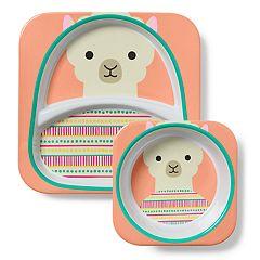 Skip Hop Zoo Melamine Divided Plate & Bowl Set