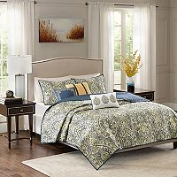 Madison Park Madison Charmeuse 6-piece Coverlet Set