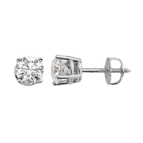 Evergreen Diamonds 1 Carat T.W. IGL Certified Lab-Created Diamond Stud Earrings