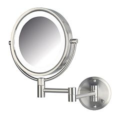 Jerdon 8.5 in LED Lighted Direct Wire Makeup Mirror