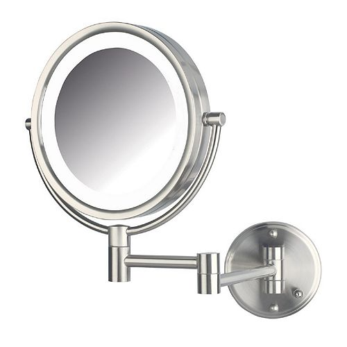 Jerdon 8.5-in. LED Lighted Direct Wire Makeup Mirror