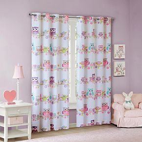 Mi Zone Kids Nocturnal Nellie Owl Blackout Window Curtain