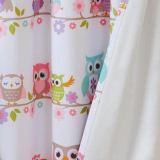 Mi Zone Kids Nocturnal Nellie Owl Blackout Window Curtain