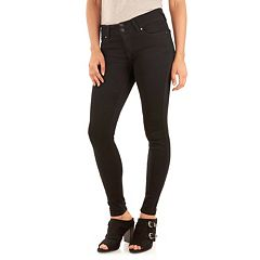 Juniors' Wallflower Curvy Bling Jeans
