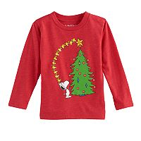 Toddler Boy Jumping Beans® Peanuts Snoopy & Woodstock Christmas Tree Graphic Tee