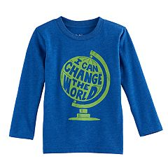 Toddler Boy Jumping Beans® 'I Can Change The World' Globe Graphic Tee