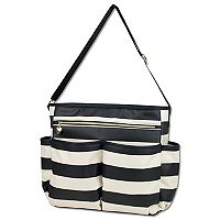 Baby Essentials Black & Tan Diaper Bag