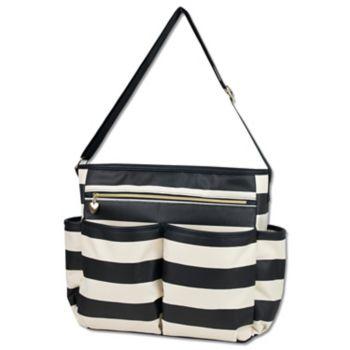 Baby Essentials Black & Tan Diaper Bag