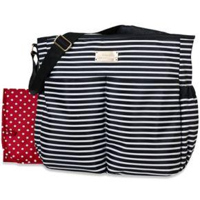 Baby Essentials Striped Stroller Diaper Bag