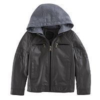 Toddler Boy Urban Republic Quilted Knit Hood Midweight Jacket