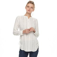 Women's Apt. 9® Side Ruched Henley Tunic
