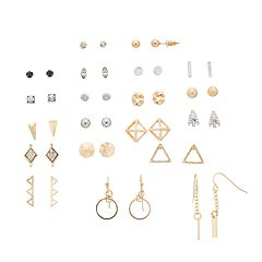 Mudd® Geometric, Love Knot & Arrow Nickel Free Earring Set