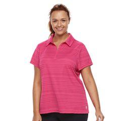 Plus Size FILA SPORT® Quarter-Zip Golf Polo