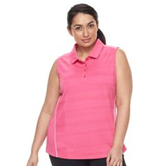 Plus Size FILA SPORT® Sleeveless Polo Top