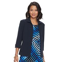 Women's Dana Buchman Cuffed Open-Front Jacket