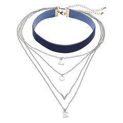 Mudd® 'Love' Layered & Velvet Choker Necklace Set