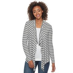 Juniors' SO® Waterfall Open-Front Cardigan
