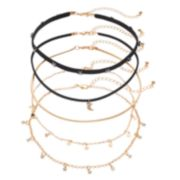 Mudd® Star & Moon Choker Necklace Set