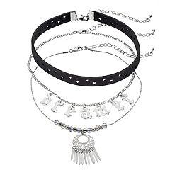 Mudd® 'Dreamer,' Dreamcatcher & Stars Choker Necklace Set