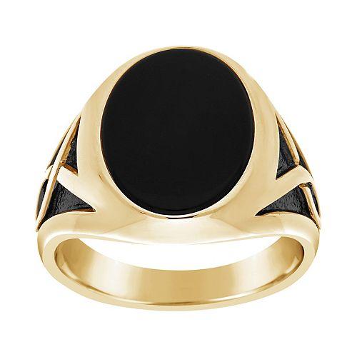 Men's 10k Gold Onyx Ring