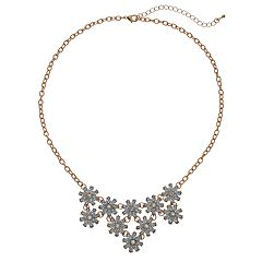 Mudd® Flower Statement Necklace