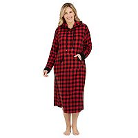 Plus Size Cuddl Duds Pajamas: By The Fire Hooded Sleep Shirt