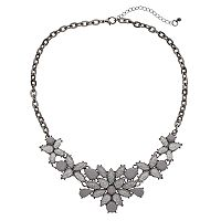 Mudd® Glittery Flower Statement Necklace