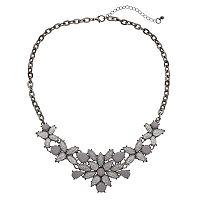 Mudd® Glittery Flower Statement Necklace