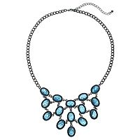 Mudd® Blue Oval Statement Necklace