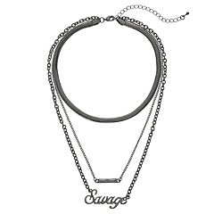 Mudd® 'Savage' Layered Choker Necklace