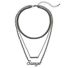 Mudd® 'Savage' Layered Choker Necklace