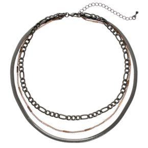 Mudd® Two Tone Multi Strand Choker Necklace