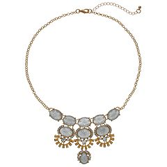 Mudd® Glittery Oval Cabochon Statement Necklace