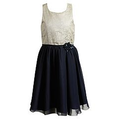Girls 7-16 Emily West Jacquard Dress