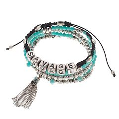 Mudd® 'Savage' Slipknot & Beaded Stretch Bracelet Set