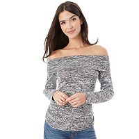 Juniors' IZ Byer Ruched Off-the-Shoulder Top