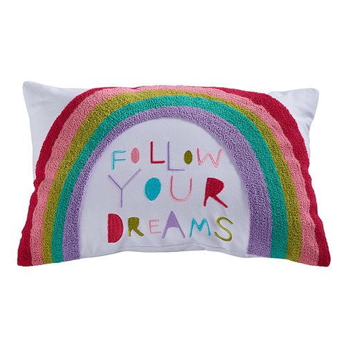 "SONOMA Goods for Life™ Kids Rainbow ""Follow Your Dreams"" Throw Pillow"