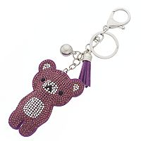 Mudd® Tasseled Teddy Bear Key Chain