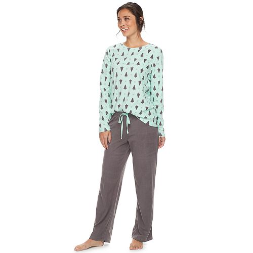 Women's SONOMA Goods for Life™ Pajamas: Microfleece 2-Piece PJ Set
