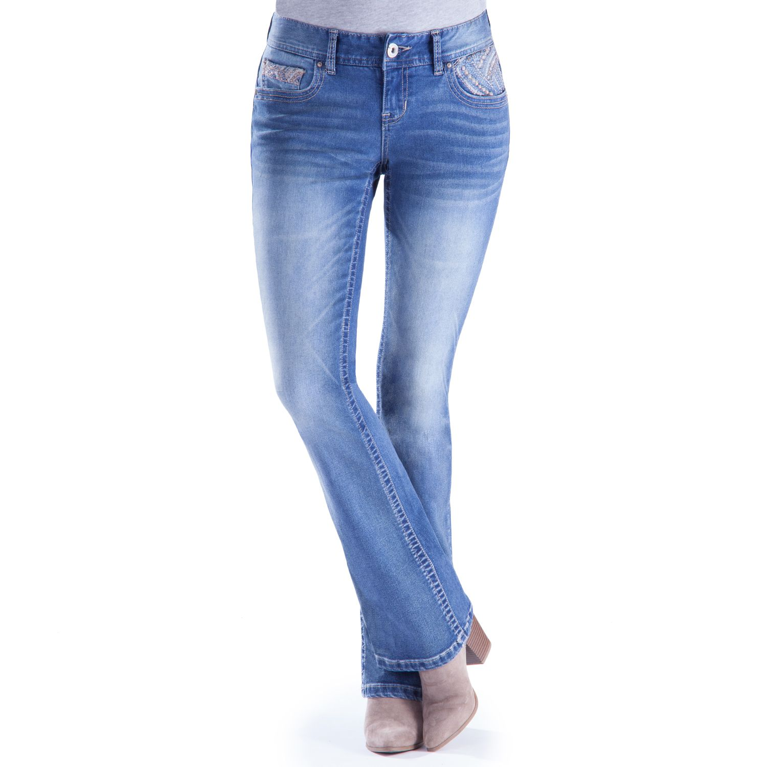 Slim bootcut jeans for juniors