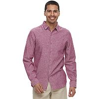 Men's Marc Anthony Slim-Fit Linen-Blend Stretch Button-Down Shirt