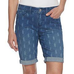 Women's Croft & Barrow® Cuffed Bermuda Jean Shorts
