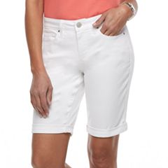 Women's Croft & Barrow® Cuffed Bermuda Jean Shorts