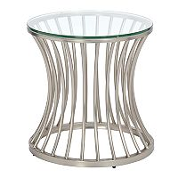 Madison Park Clarita Glass Top End Table
