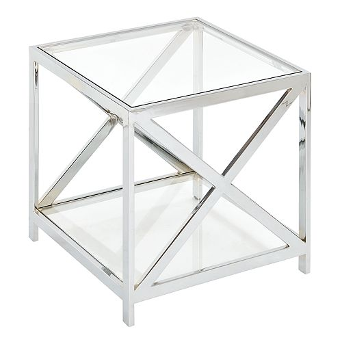 Madison Park Boston Glass End Table