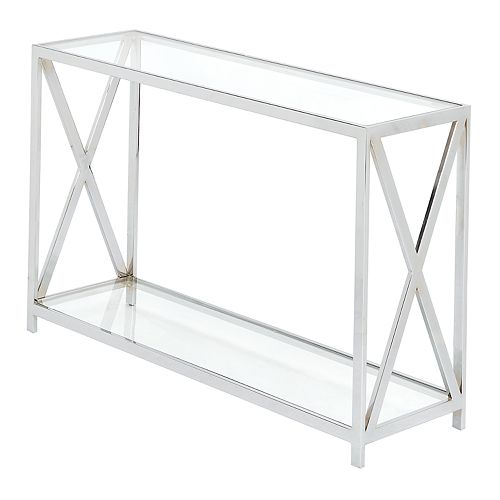 Madison Park Boston Glass Console Table