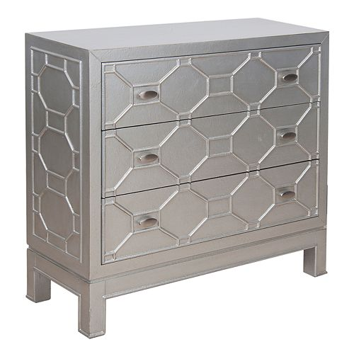 Madison Park Geometric 3-Drawer Dresser