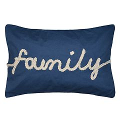 Spencer Home Decor 'Family' Embroidery Oblong Throw Pillow